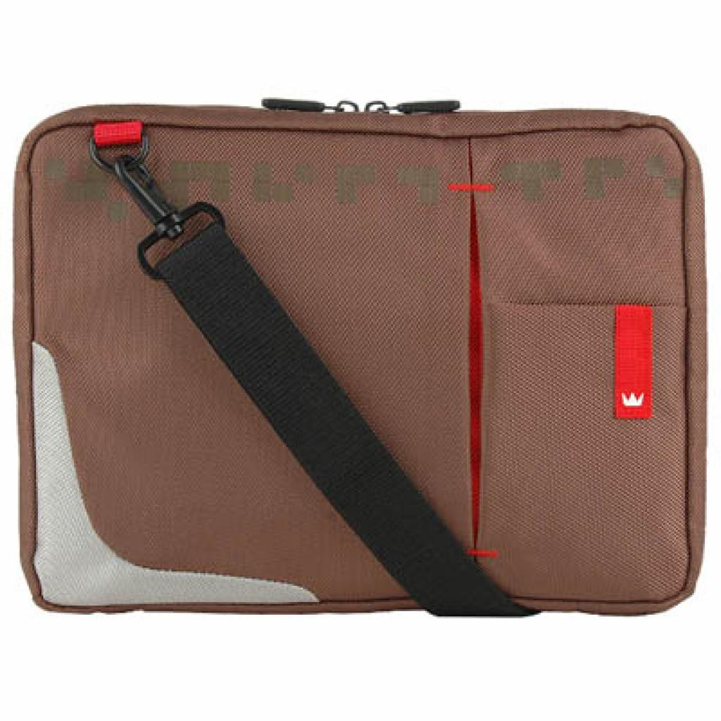 Сумка для ноутбука Crown 10.2 Genuine Sling Bag/brown (SBG4410BN) изображение 3