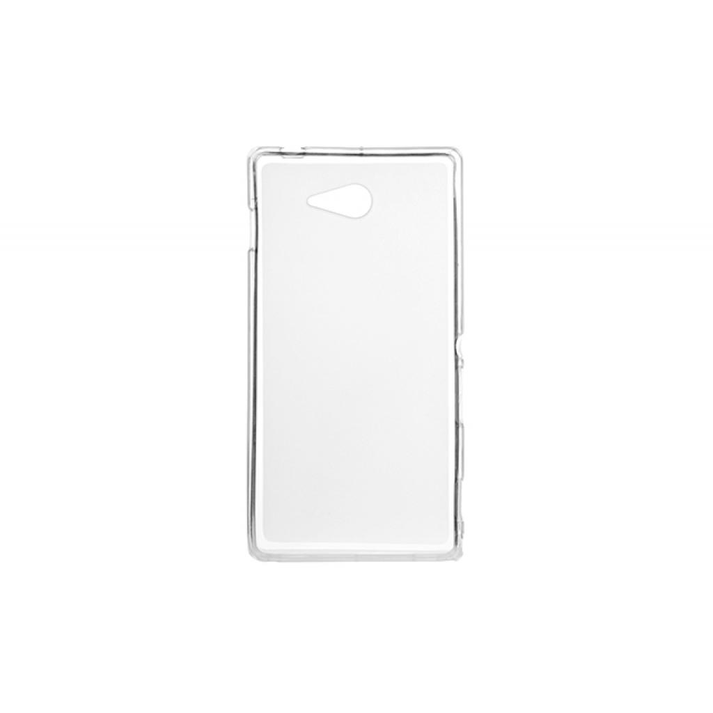 Чехол для моб. телефона для Sony Xperia M2 (White Clear) Elastic PU Drobak (212297) изображение 2