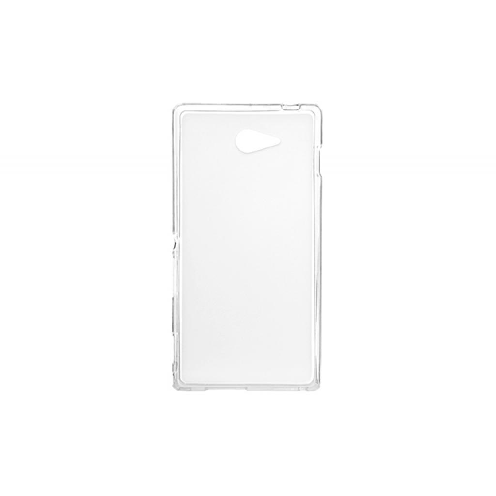 Чехол для моб. телефона для Sony Xperia M2 (White Clear) Elastic PU Drobak (212297)