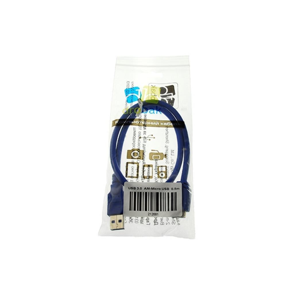Дата кабель Drobak USB 3.0 AM–Micro USB Тип B 0,5м (212681) изображение 3