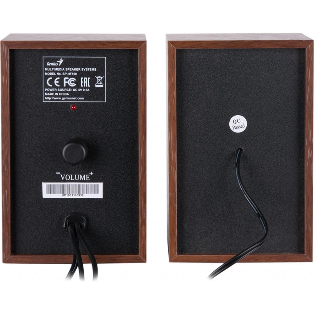 Акустическая система Genius SP-HF160 USB Wood (31731063101) изображение 5