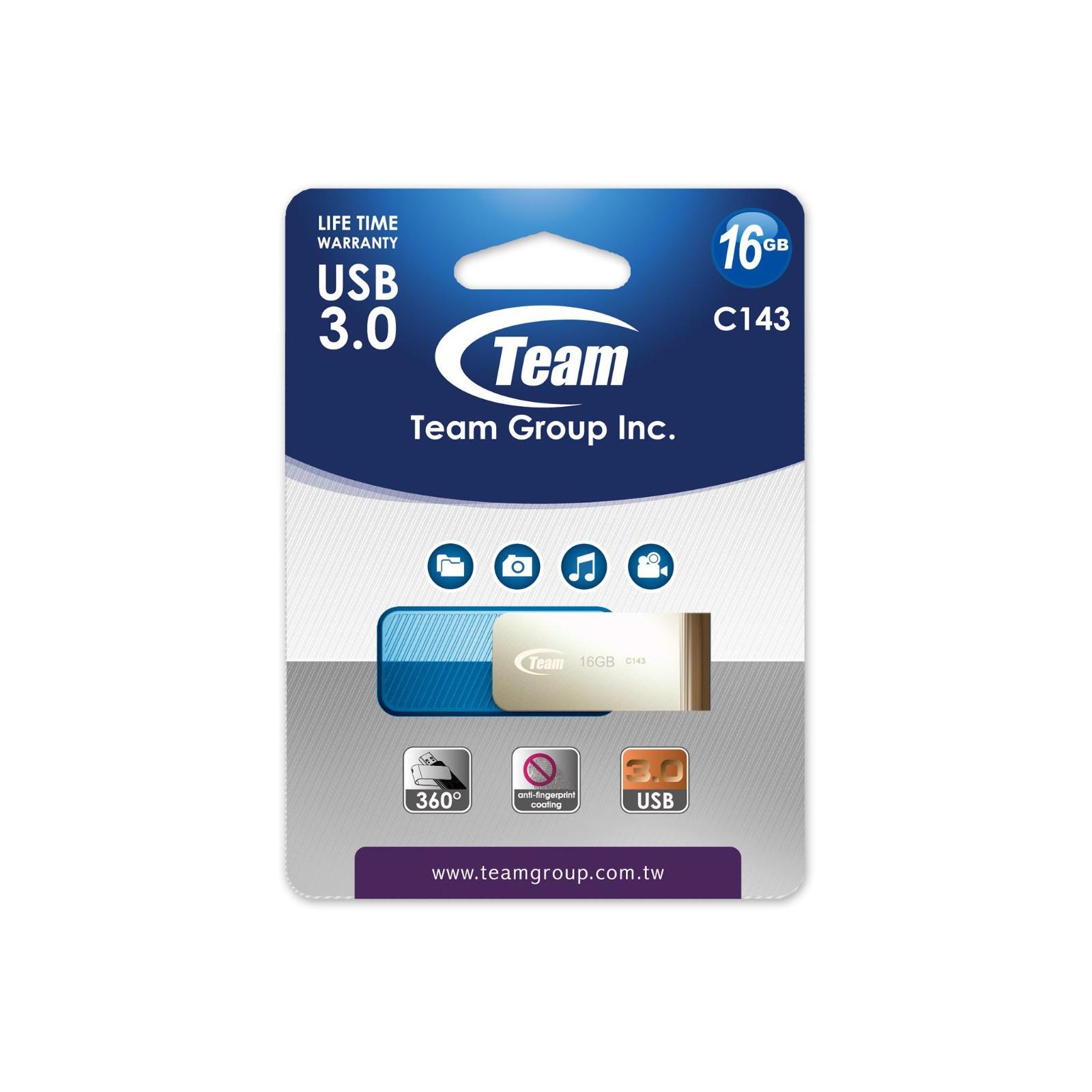 USB флеш накопитель Team 16GB C143 Blue USB 3.0 (TC143316GL01) изображение 4