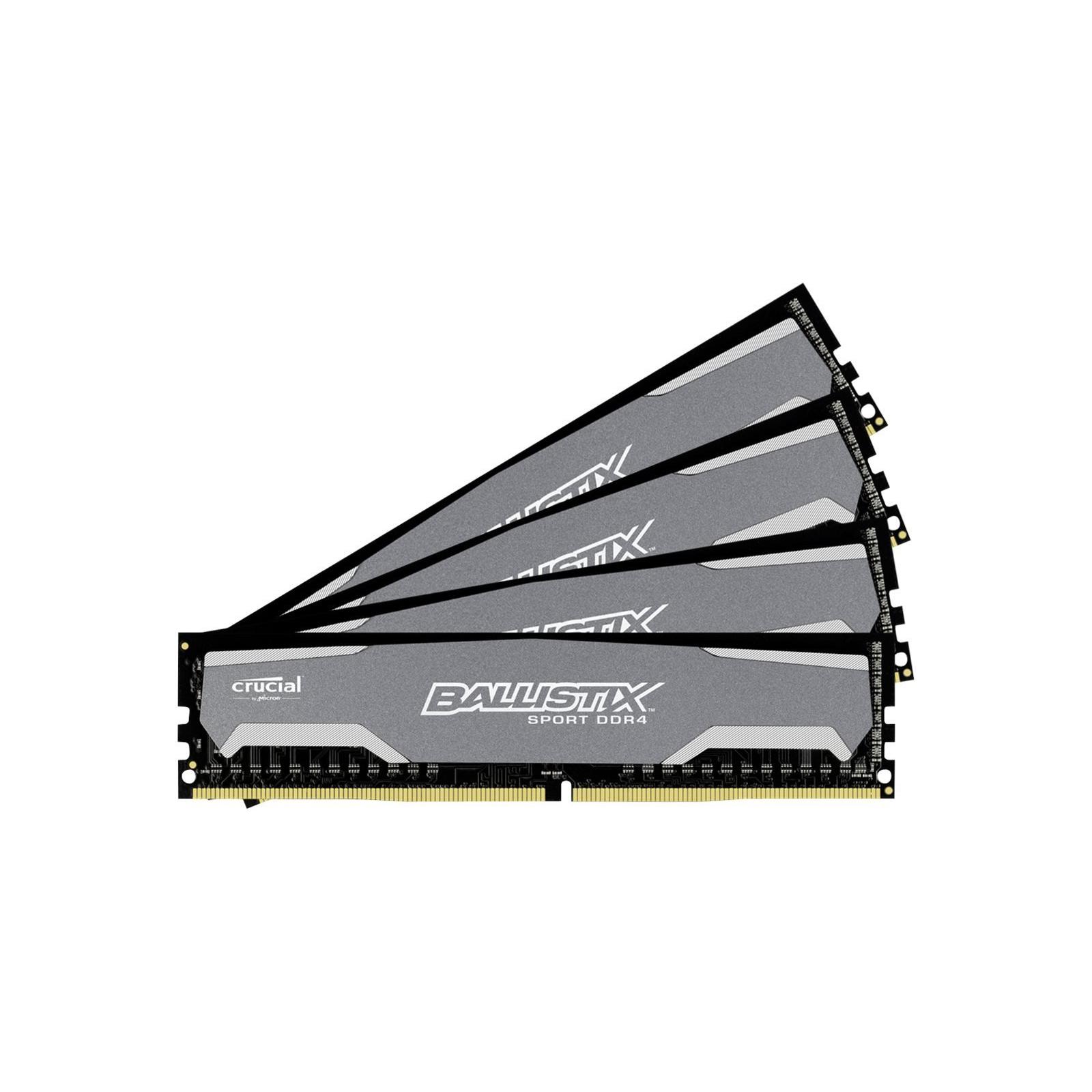 Модуль памяти для компьютера DDR4 32GB (4x8GB) 2400 MHz Ballistix Sport MICRON (BLS4C8G4D240FSA) изображение 2