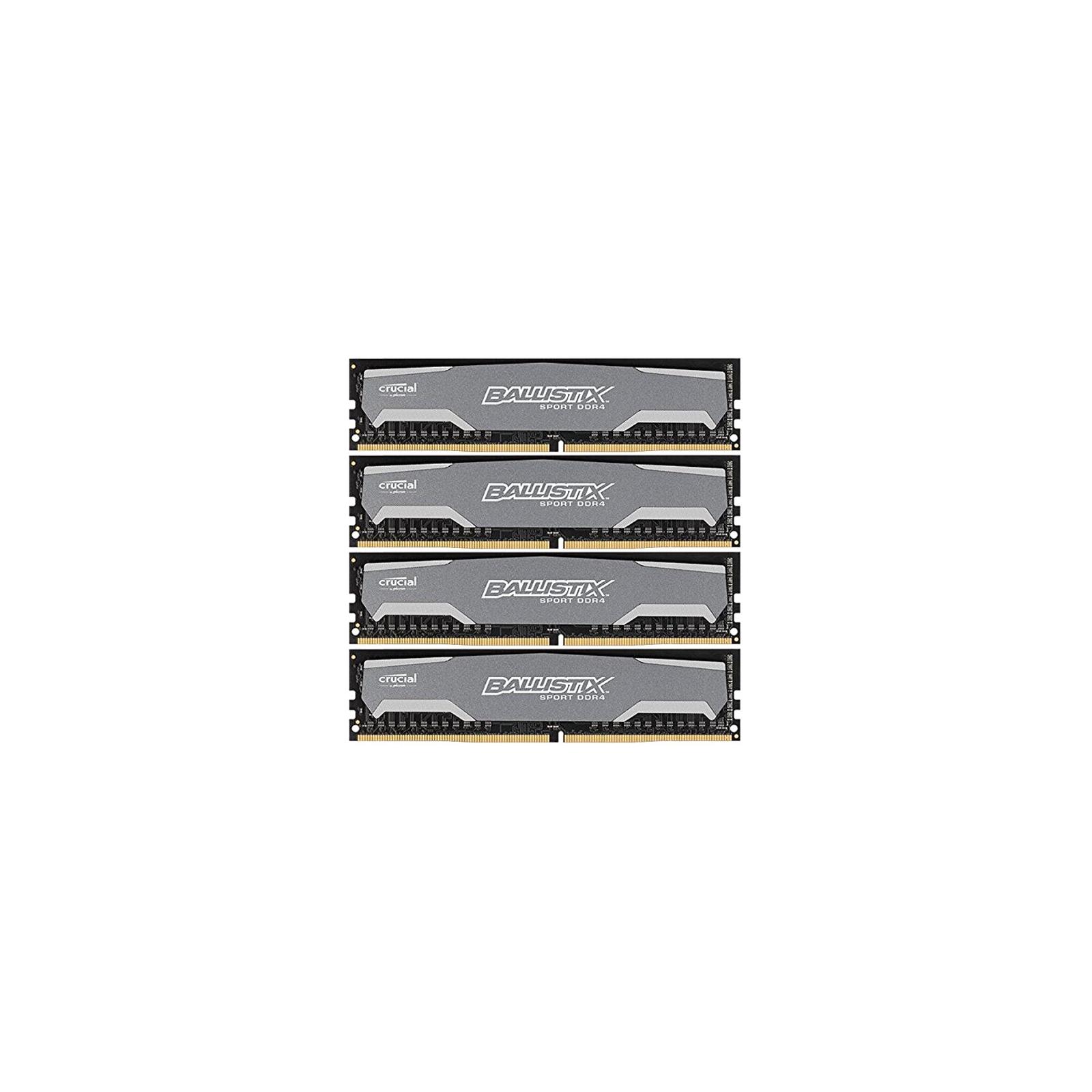Модуль памяти для компьютера DDR4 32GB (4x8GB) 2400 MHz Ballistix Sport MICRON (BLS4C8G4D240FSA)