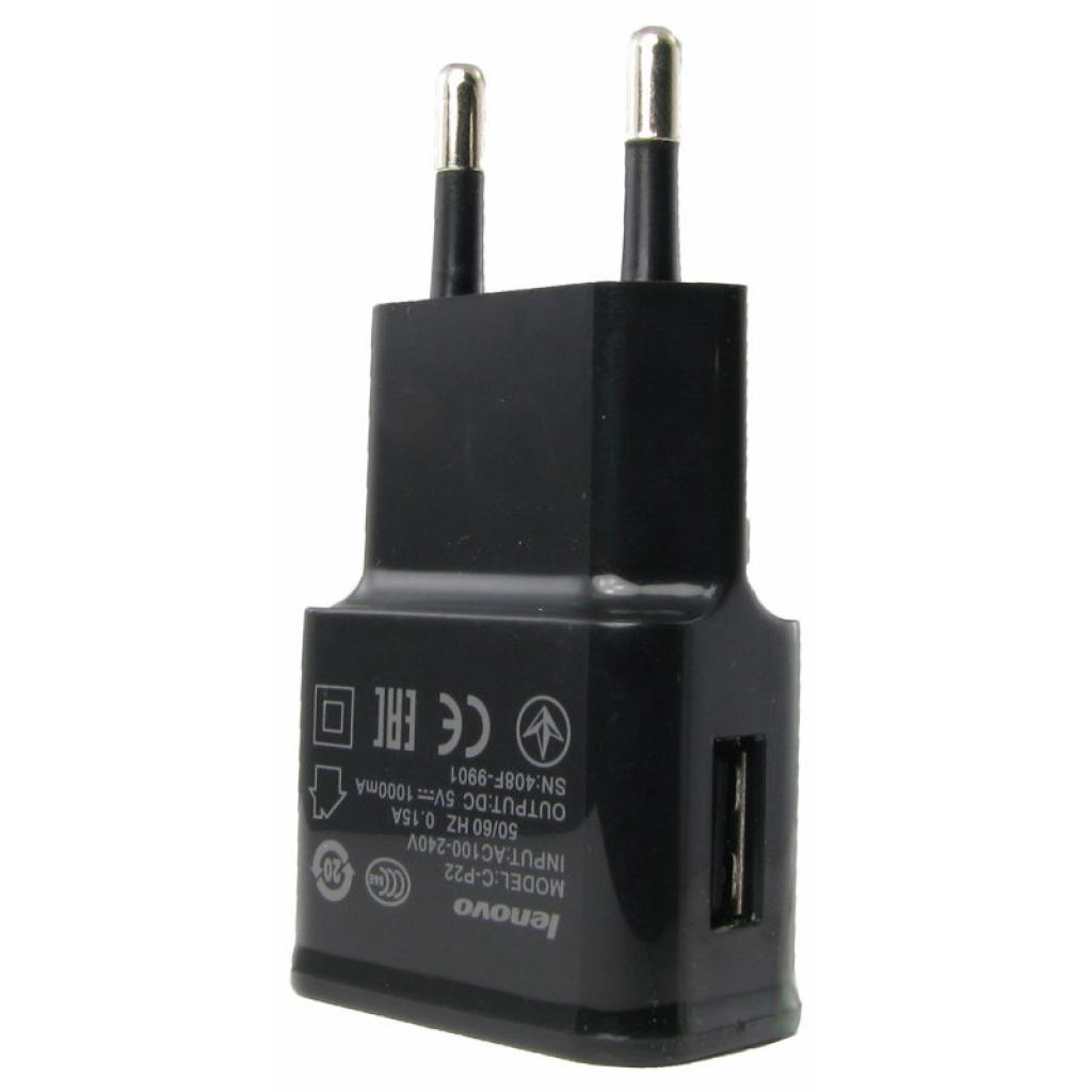 Зарядное устройство Lenovo 2A Black (33108)