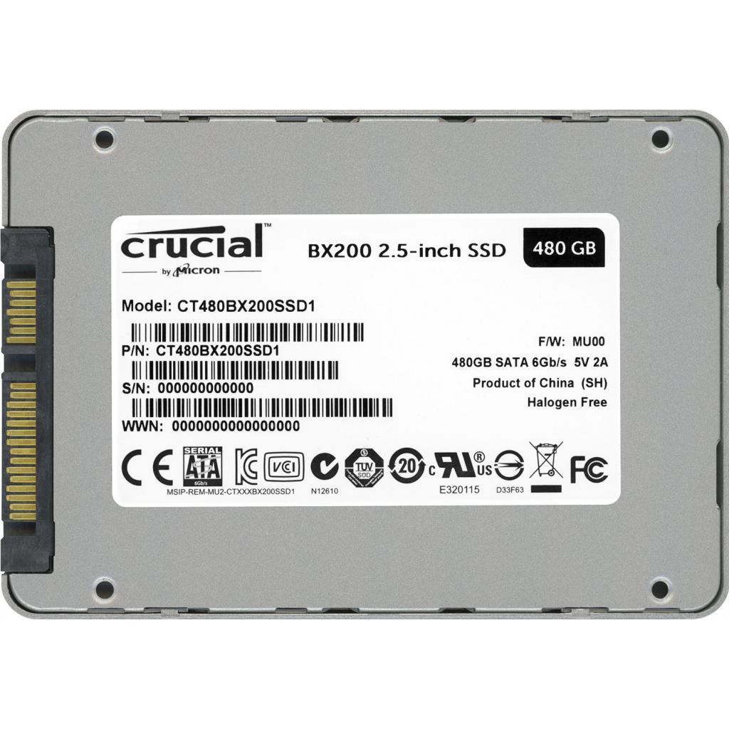"""Накопитель SSD MICRON 2.5"""" 480GB (CT480BX200SSD1_OEM) изображение 5"""