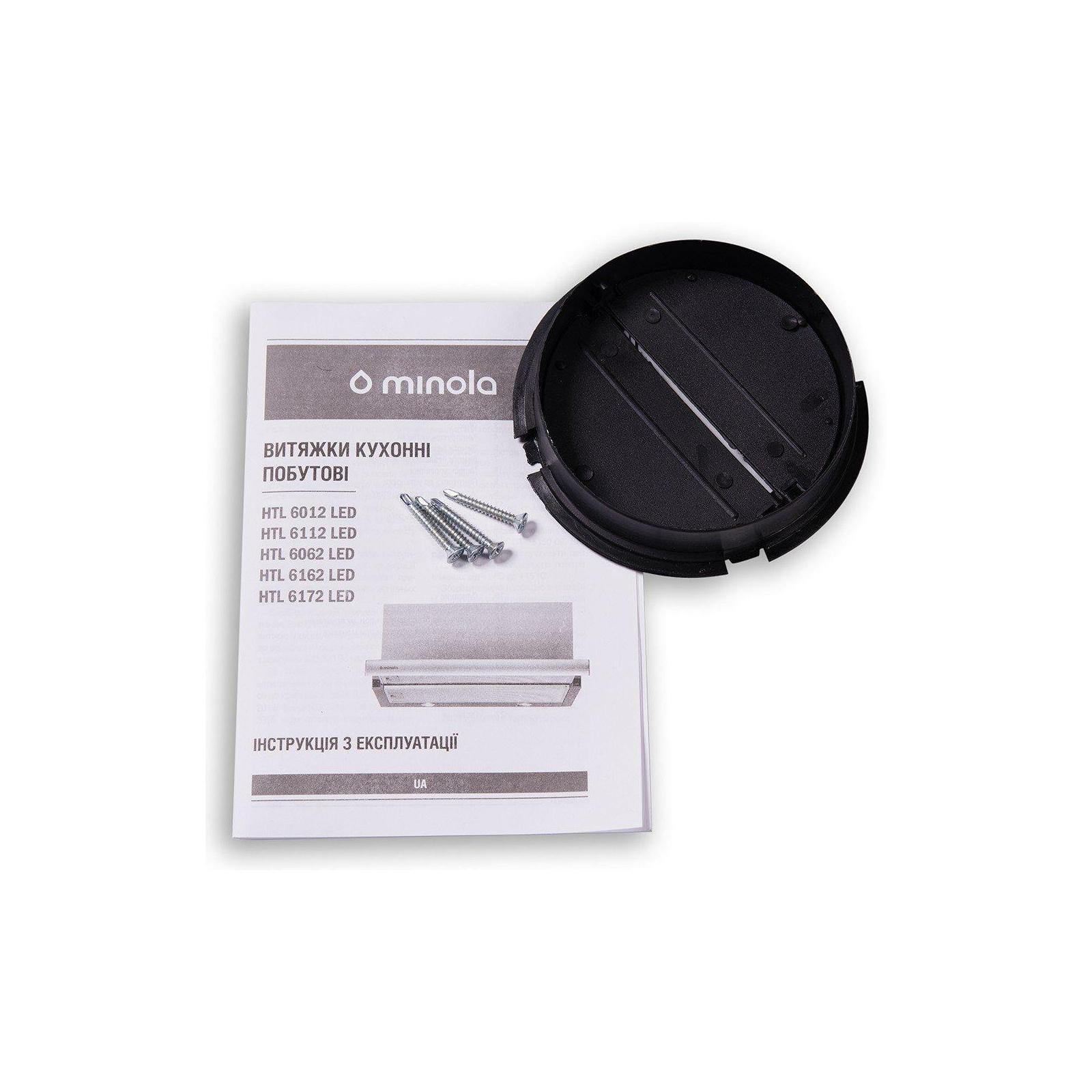 Вытяжка кухонная MINOLA HTL 6162 I/BL GLASS 650 LED изображение 9
