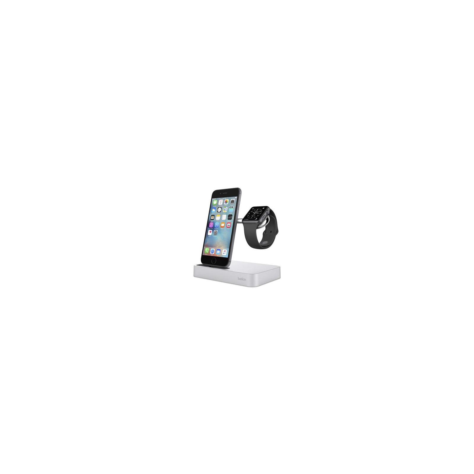 Док-станция Belkin Charge Dock iWatch + iPhone, silver (F8J183vfSLV) изображение 3
