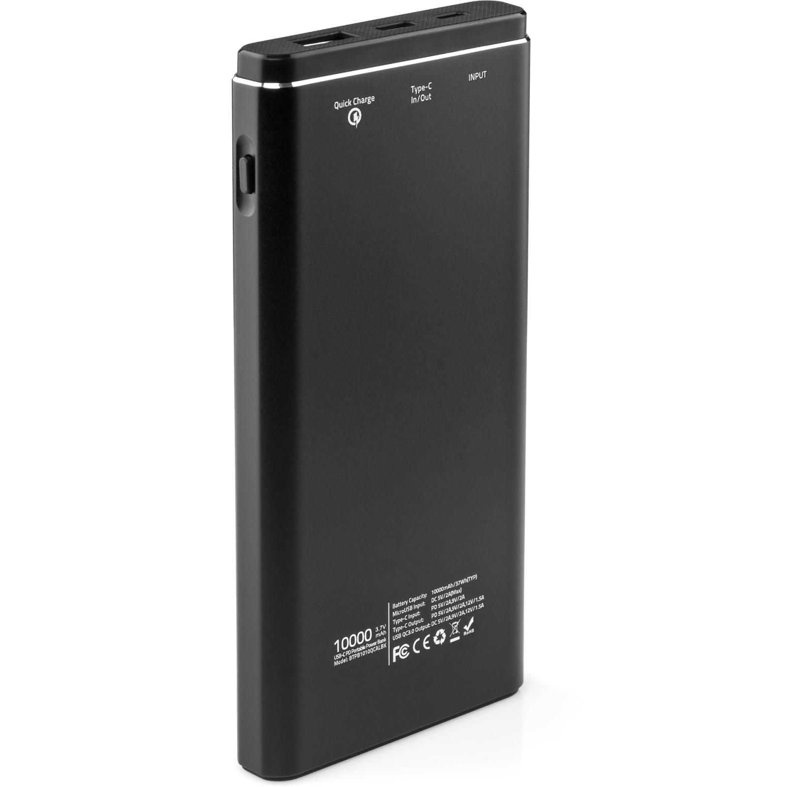 Батарея универсальная Vinga 10000 mAh QC3.0 PD aluminium silver (BTPB1010QCALS) изображение 2