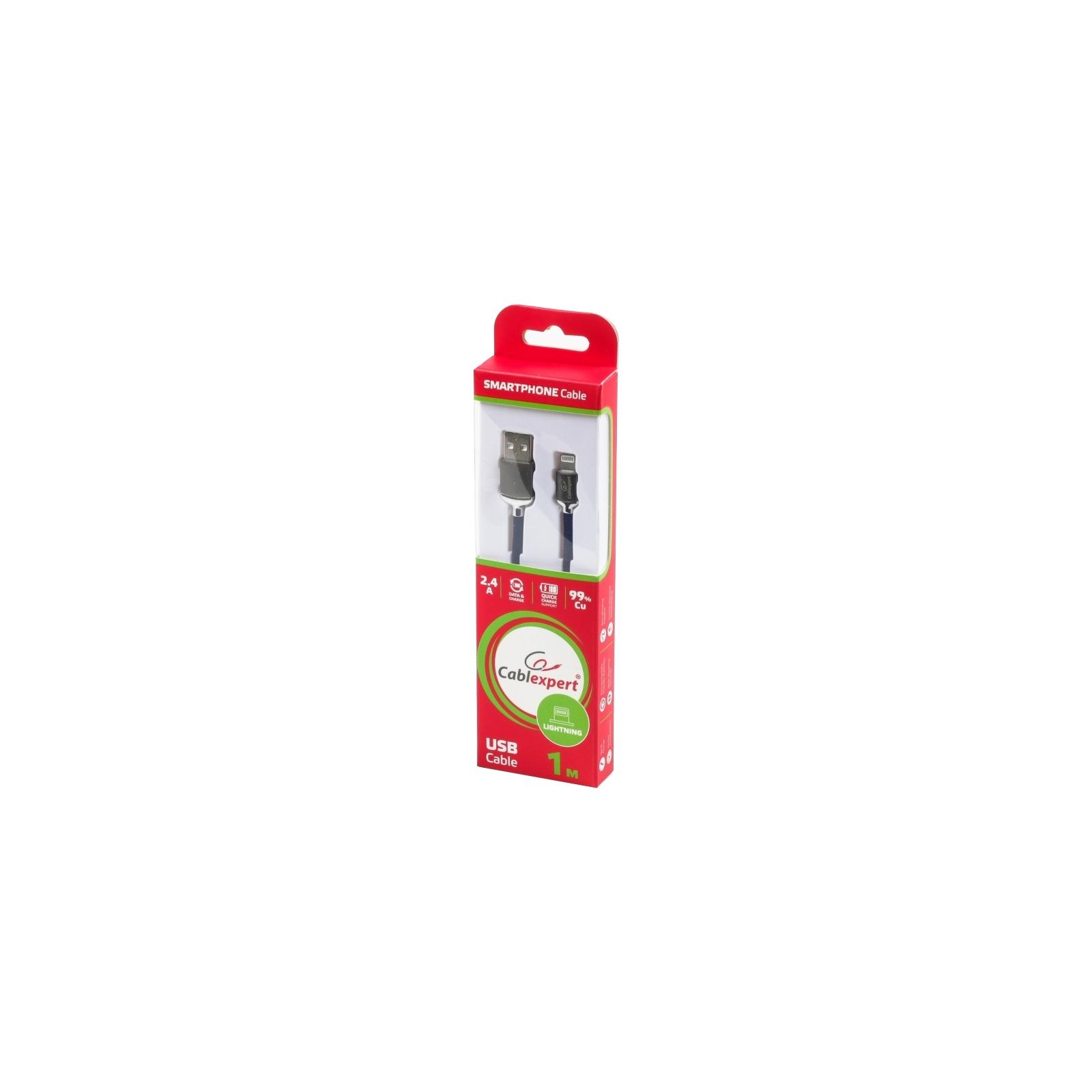 Дата кабель USB 2.0 AM to Lightning 1.0m Cablexpert (CCPB-L-USB-07B) изображение 3