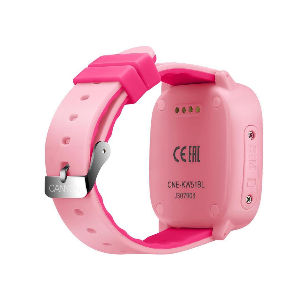 Смарт-часы Canyon CNE-KW51BL Kids smartwatch GPS Blue (CNE-KW51BL) изображение 3