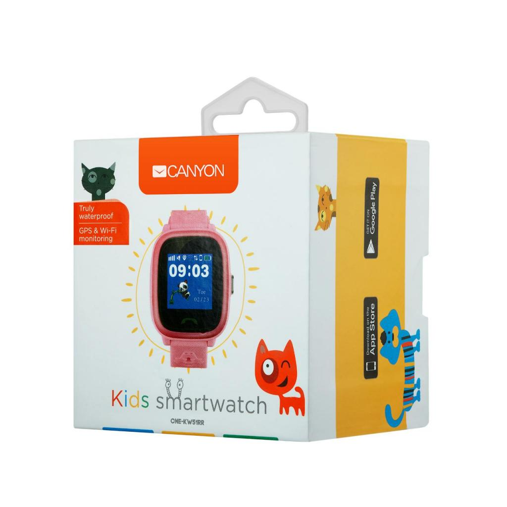 Смарт-часы Canyon CNE-KW51BL Kids smartwatch GPS Blue (CNE-KW51BL) изображение 4