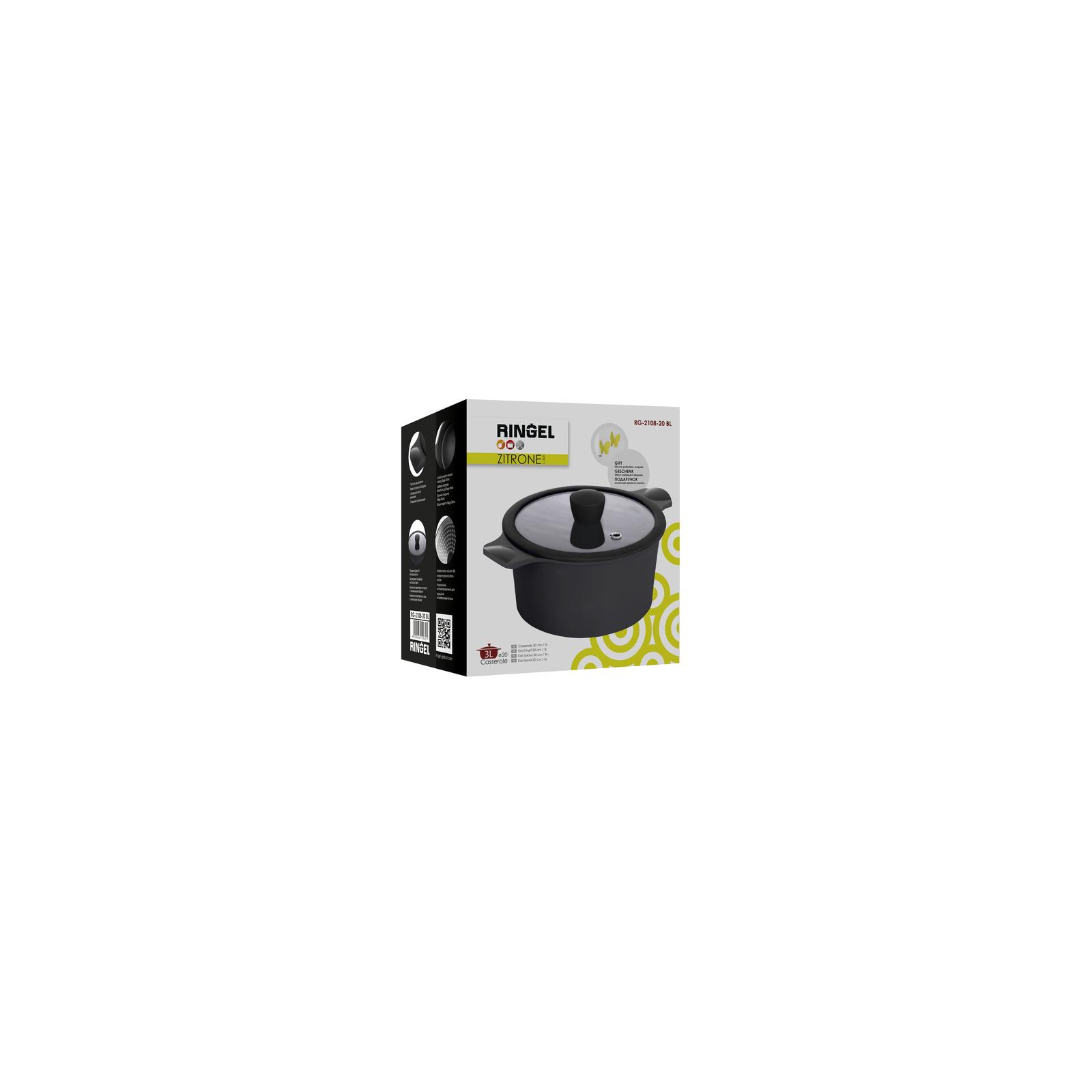 Кастрюля Ringel Zitrone black с крышкой 5,8 л (RG-2108-24/2 BL) изображение 7