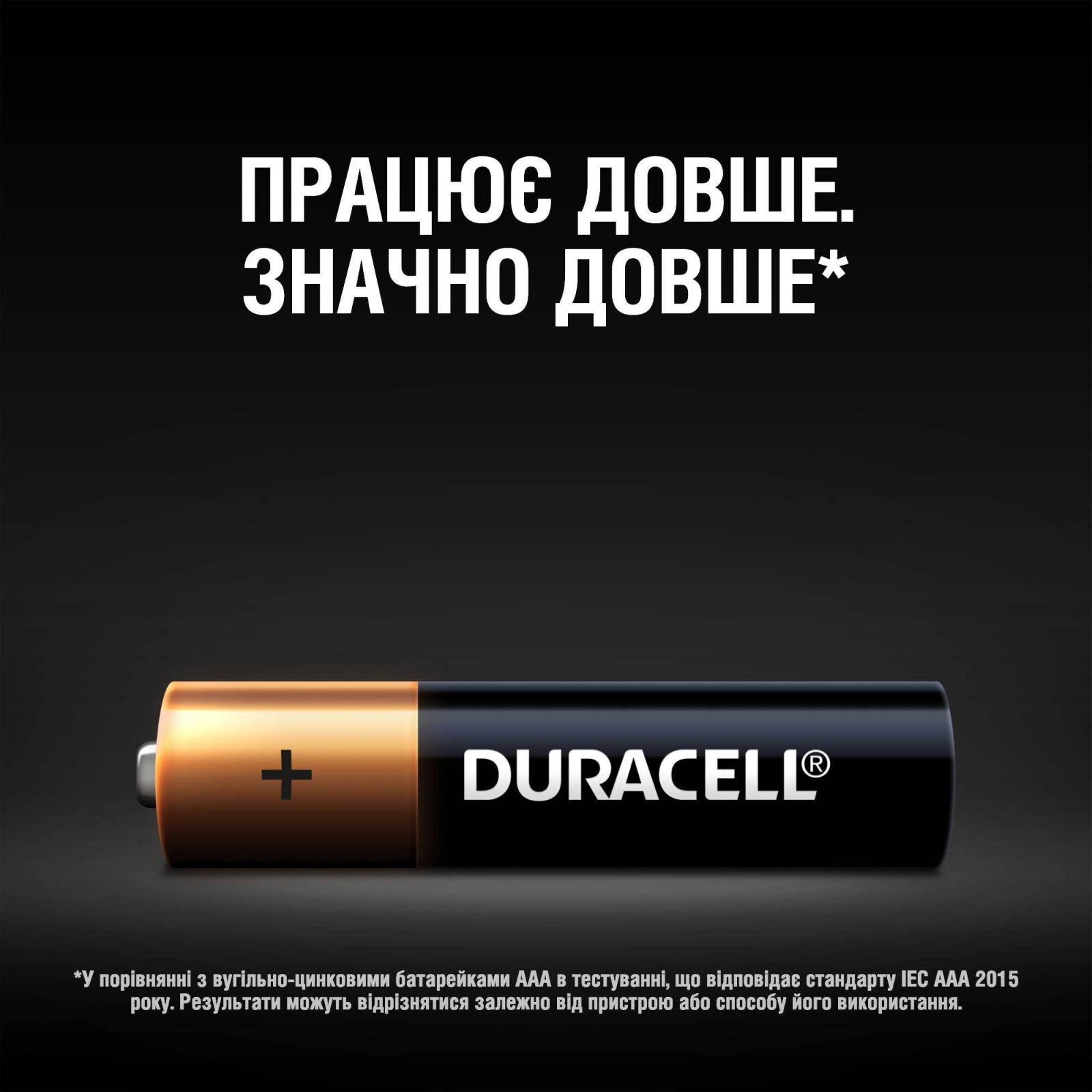 Батарейка AAA MN2400 LR03 * 4 Duracell (5000394052543 / 81545421) изображение 4