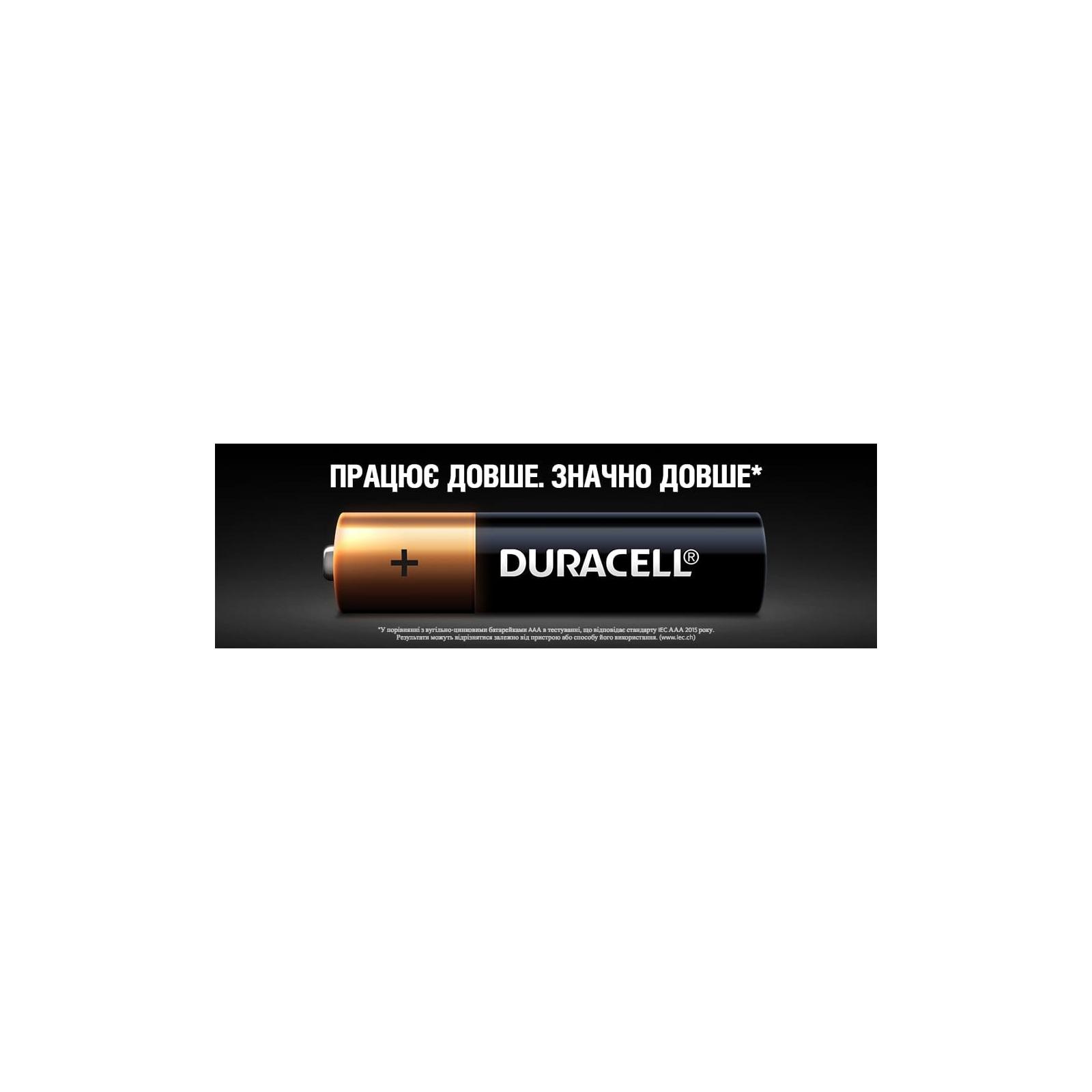 Батарейка Duracell AAA MN2400 LR03 * 4 (5000394052543 / 81545421) изображение 8
