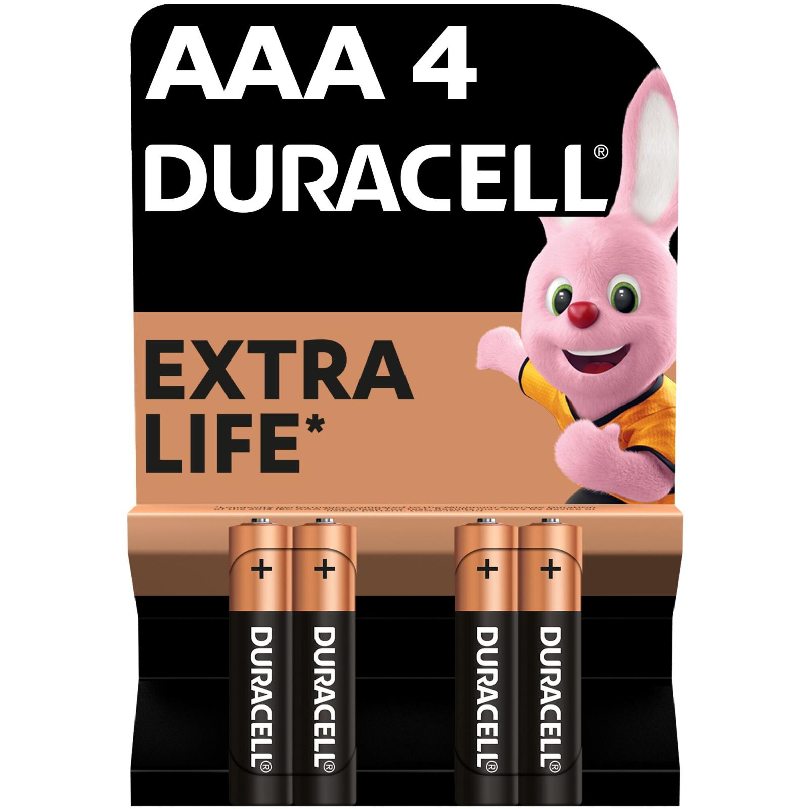 Батарейка AAA MN2400 LR03 * 4 Duracell (5000394052543 / 81545421)