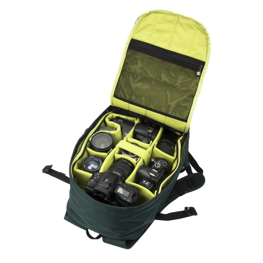 """Рюкзак для фототехники Crumpler Jackpack Full Photo +15""""NB Backpack (petrol/green yellow) (JPFBP-003) изображение 2"""