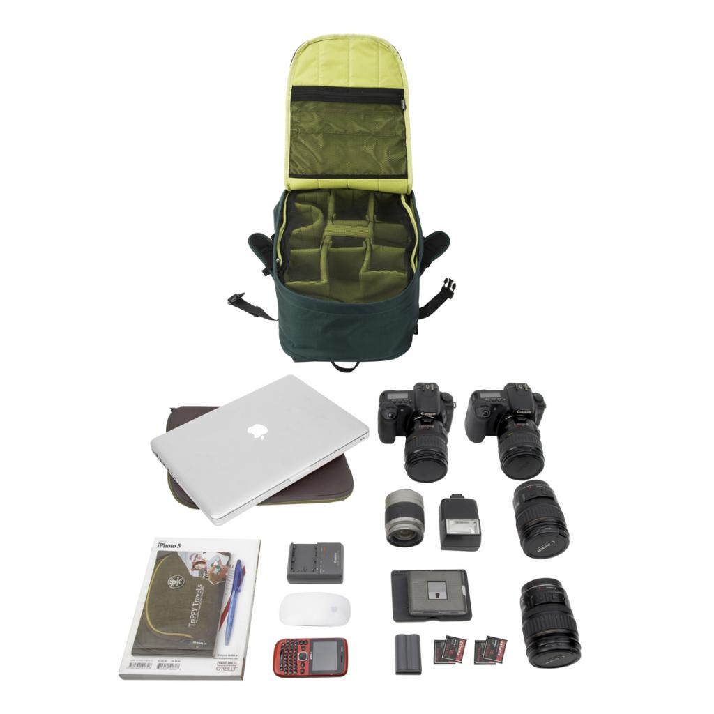 "Рюкзак для фототехники Crumpler Jackpack Full Photo +15""NB Backpack (petrol/green yellow) (JPFBP-003) изображение 2"