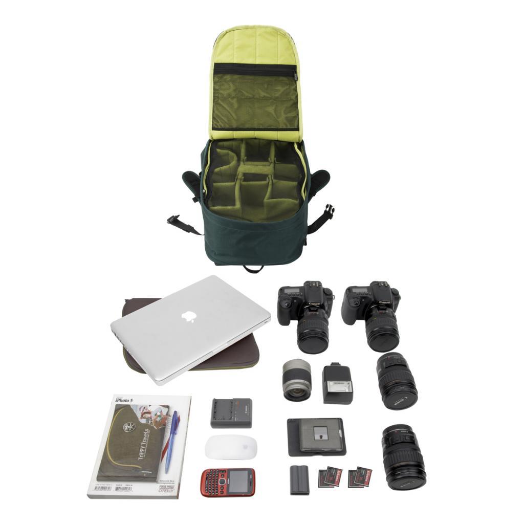 """Рюкзак для фототехники Crumpler Jackpack Full Photo +15""""NB Backpack (petrol/green yellow) (JPFBP-003) изображение 3"""