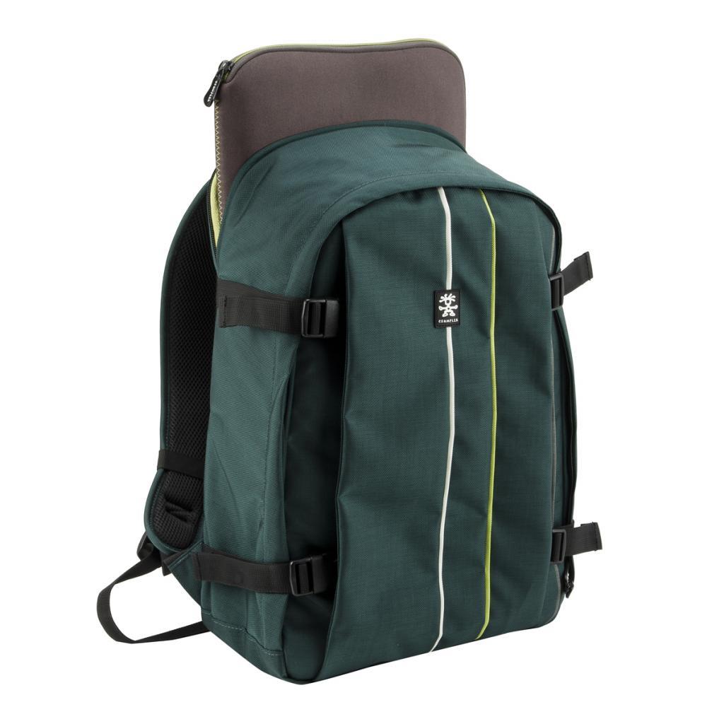 """Рюкзак для фототехники Crumpler Jackpack Full Photo +15""""NB Backpack (petrol/green yellow) (JPFBP-003) изображение 4"""