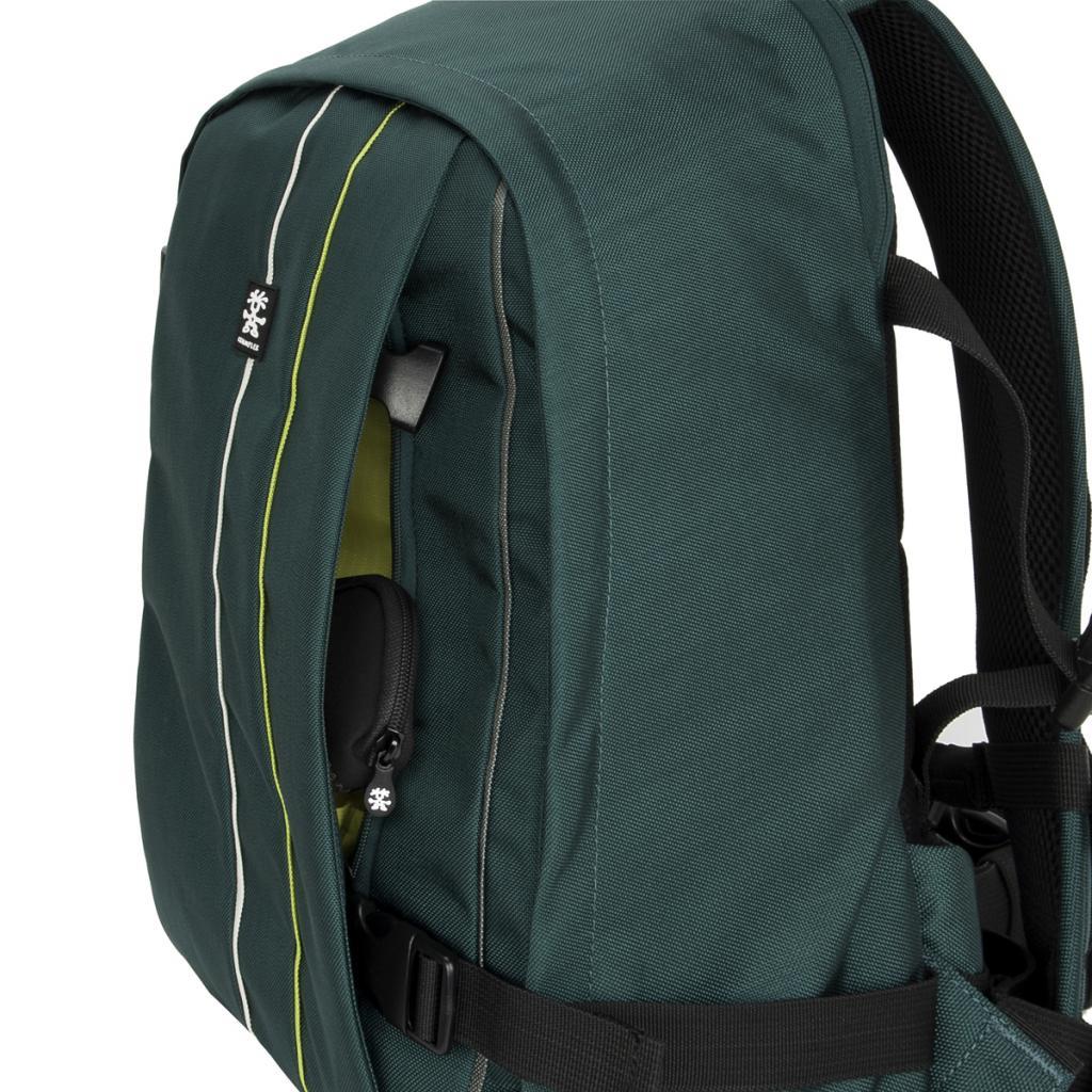 """Рюкзак для фототехники Crumpler Jackpack Full Photo +15""""NB Backpack (petrol/green yellow) (JPFBP-003) изображение 5"""