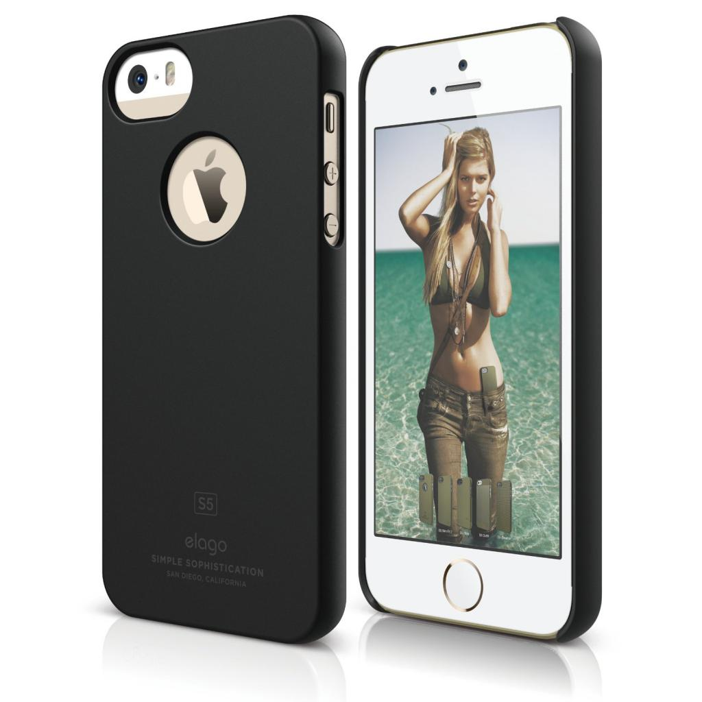 Чехол для моб. телефона ELAGO для iPhone 5 /Slim Fit Soft/Black (ELS5SM-SFBK-RT)