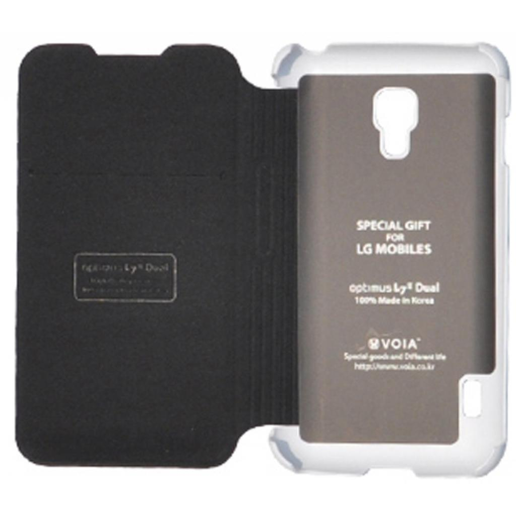 Чехол для моб. телефона VOIA для LG P715 Optimus L7II Dual /Flip/White (6068250) изображение 2