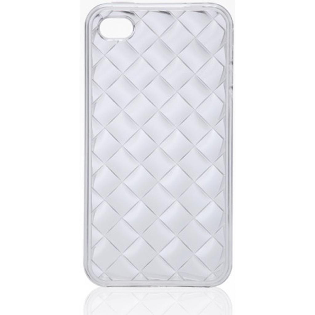 Чехол для моб. телефона VOORCA iPhone4 Crystal Case белый (V-4C white)