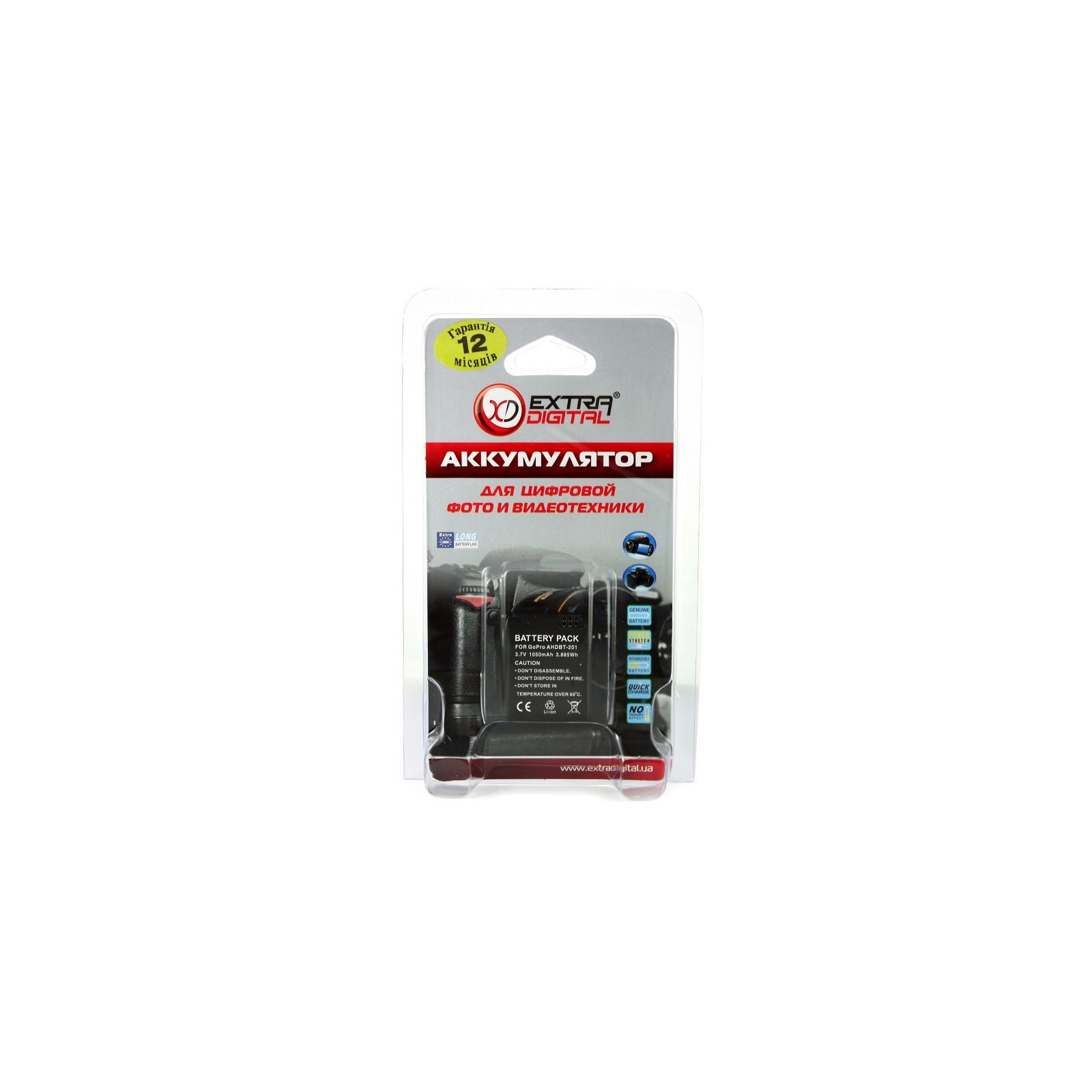 Аккумулятор к фото/видео EXTRADIGITAL GoPro HERO 3 (AHDBT-201) (DV00DV1001) изображение 6