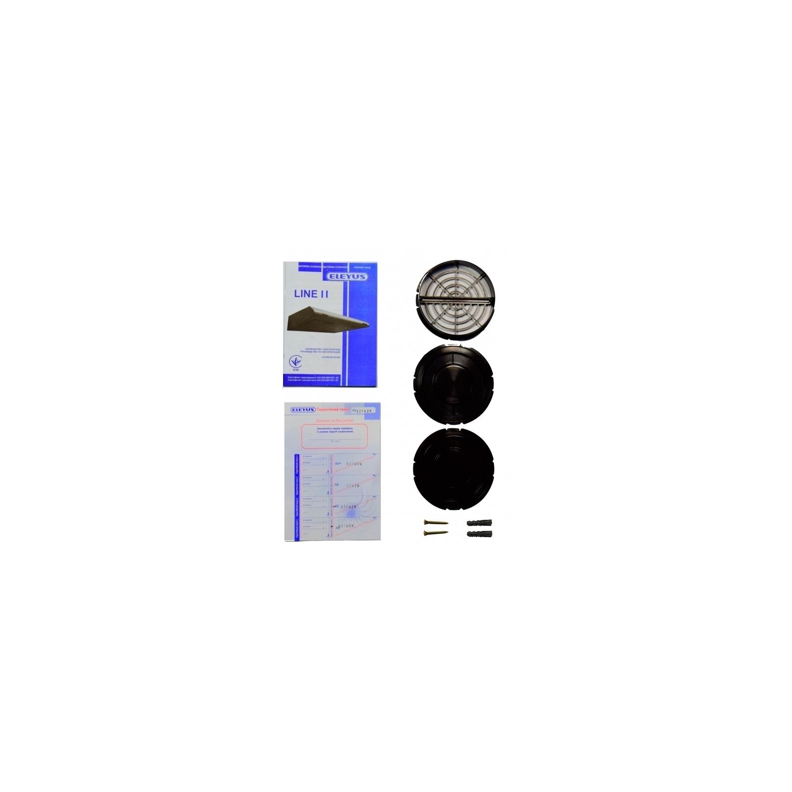 Вытяжка кухонная ELEYUS Line II 60 WH изображение 9