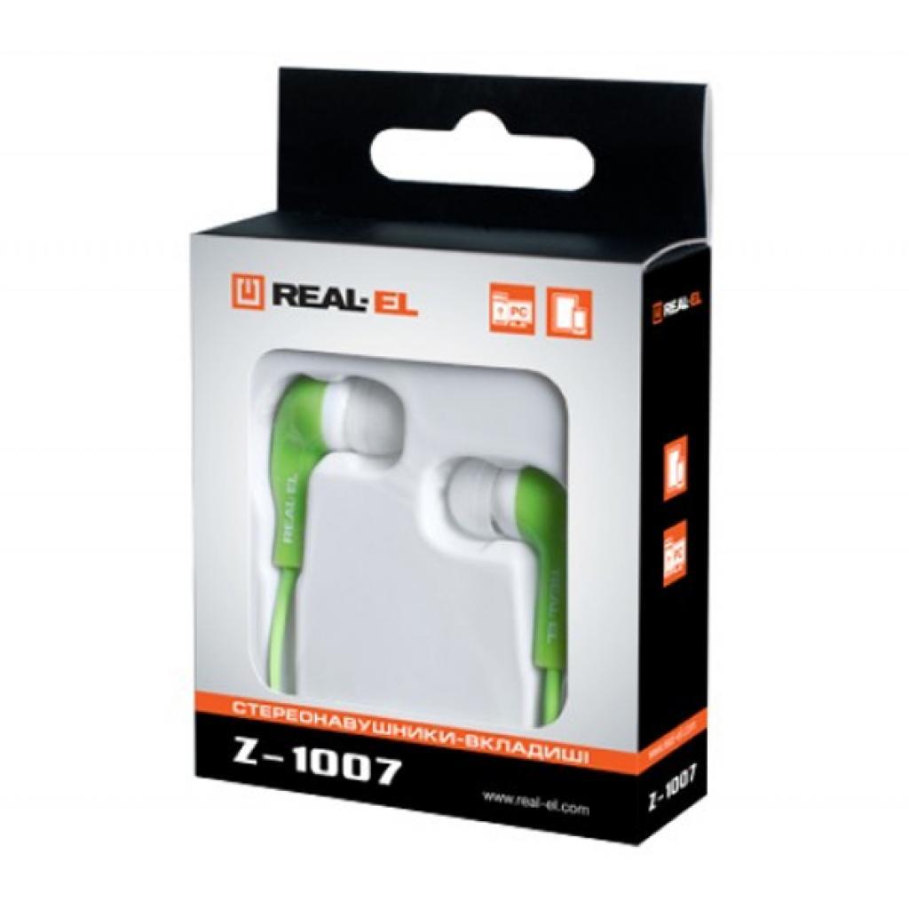 Наушники REAL-EL Z-1007 Green/White изображение 2