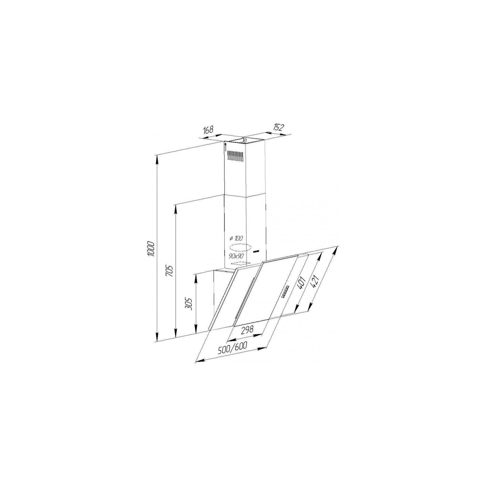 Вытяжка кухонная PYRAMIDA KZ 50 BL изображение 10