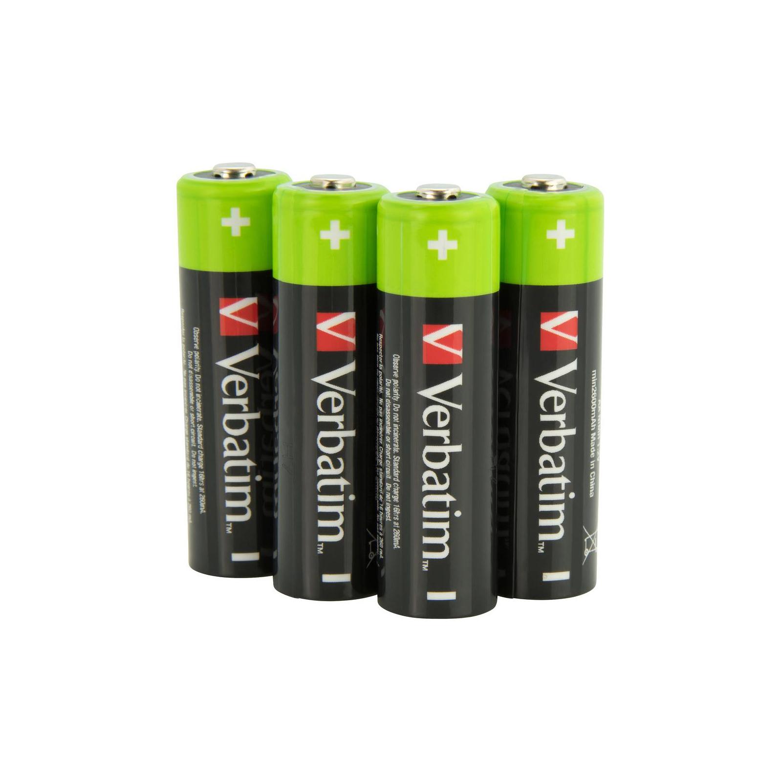 Аккумулятор Verbatim AA 2500mAh * 4 (49941) изображение 2