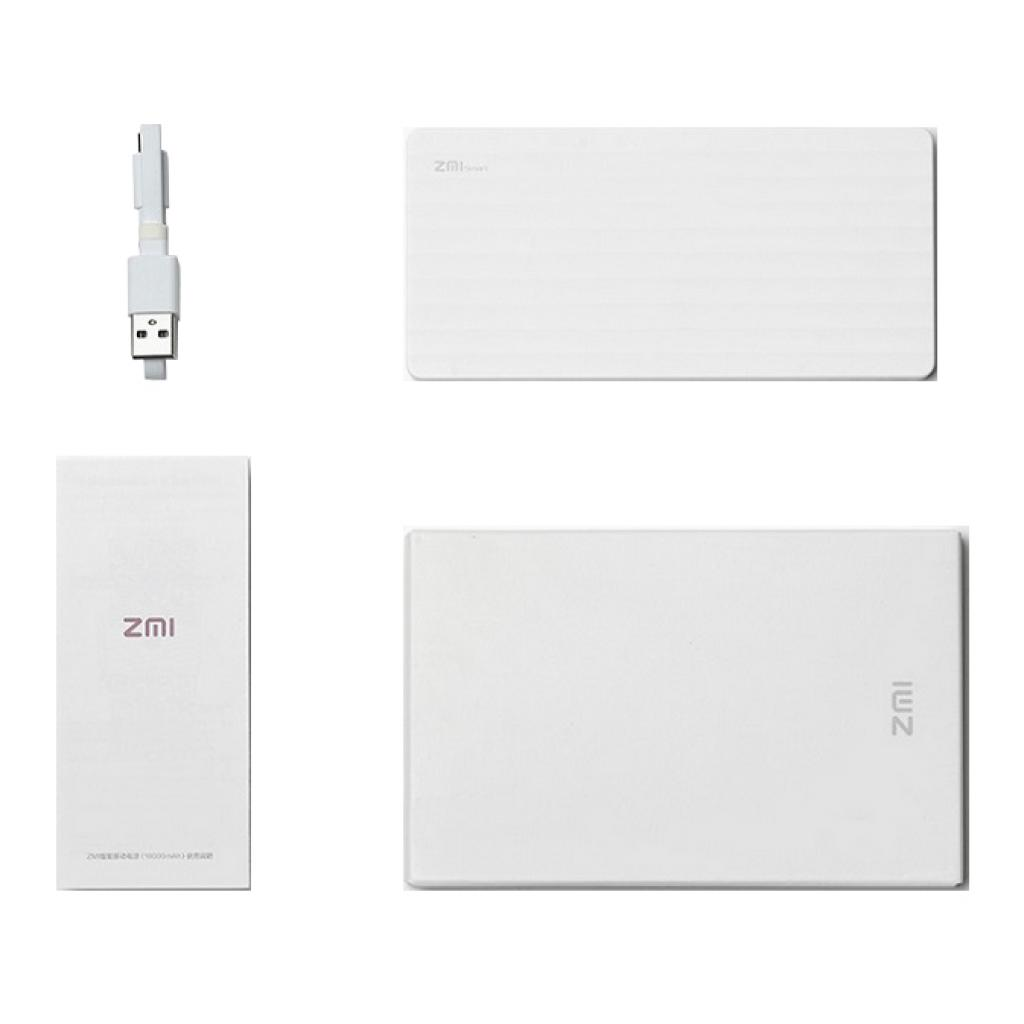 Батарея универсальная ZMi Smart powerbank 10000mAh White 2.1A (HB810-WH / 6934263400168) изображение 6