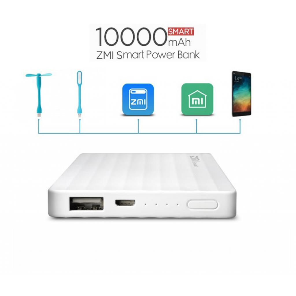 Батарея универсальная ZMi Smart powerbank 10000mAh White 2.1A (HB810-WH / 6934263400168) изображение 8