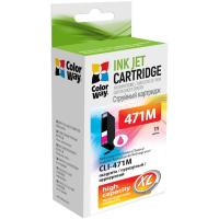 Картридж ColorWay Canon CLI-471 Magenta PIXMA MG5740/MG6840 (CW-CLI-471M)