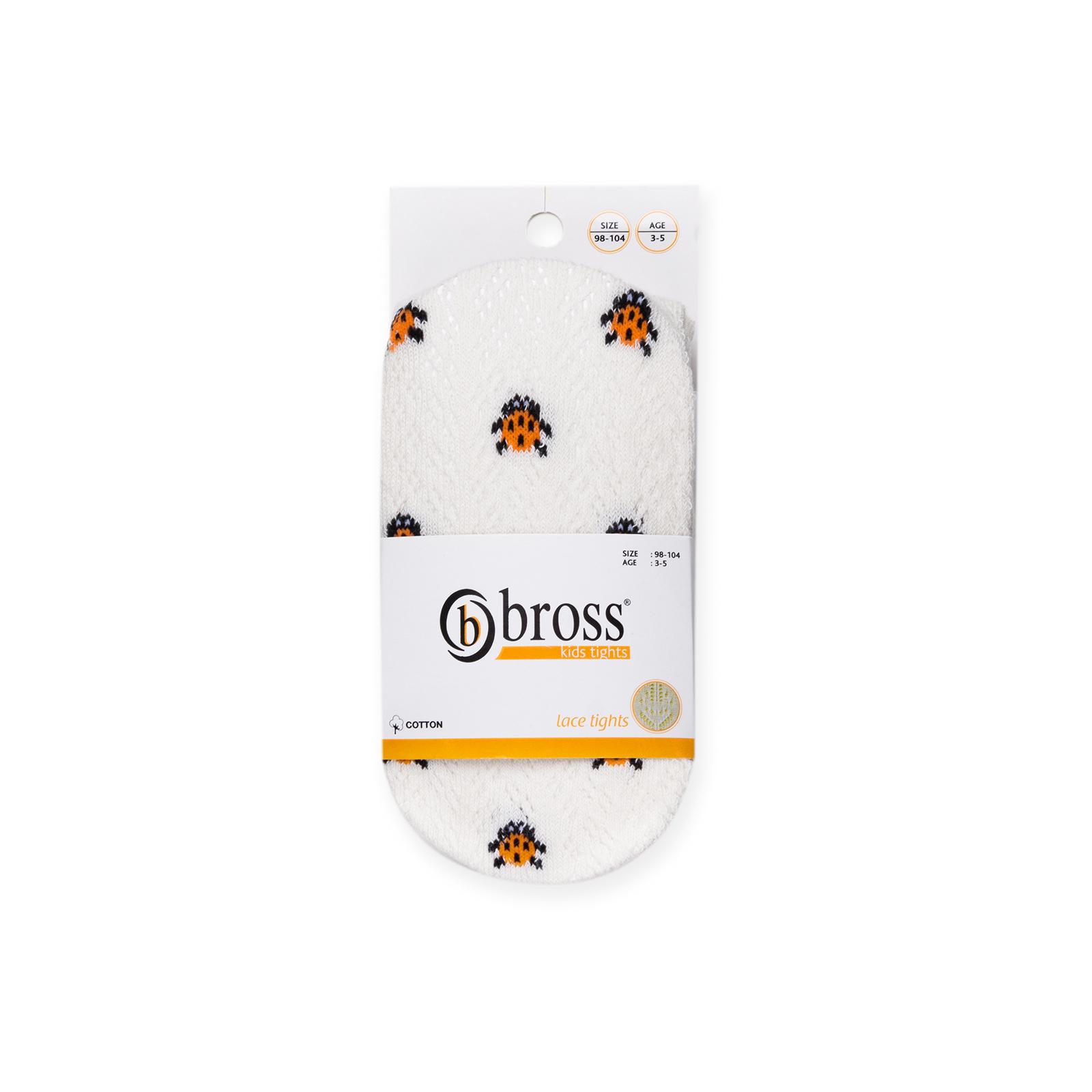 Колготки Bross с божьими коровками белые (12194-3-5G-white) изображение 4
