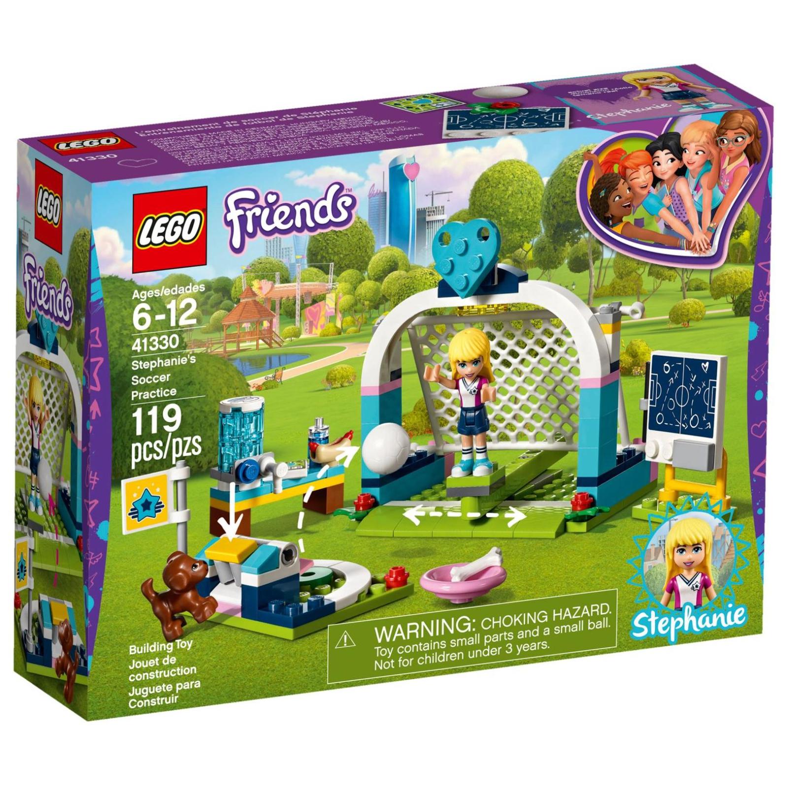 Конструктор LEGO Friends Футбольная тренировка Стефани (41330)