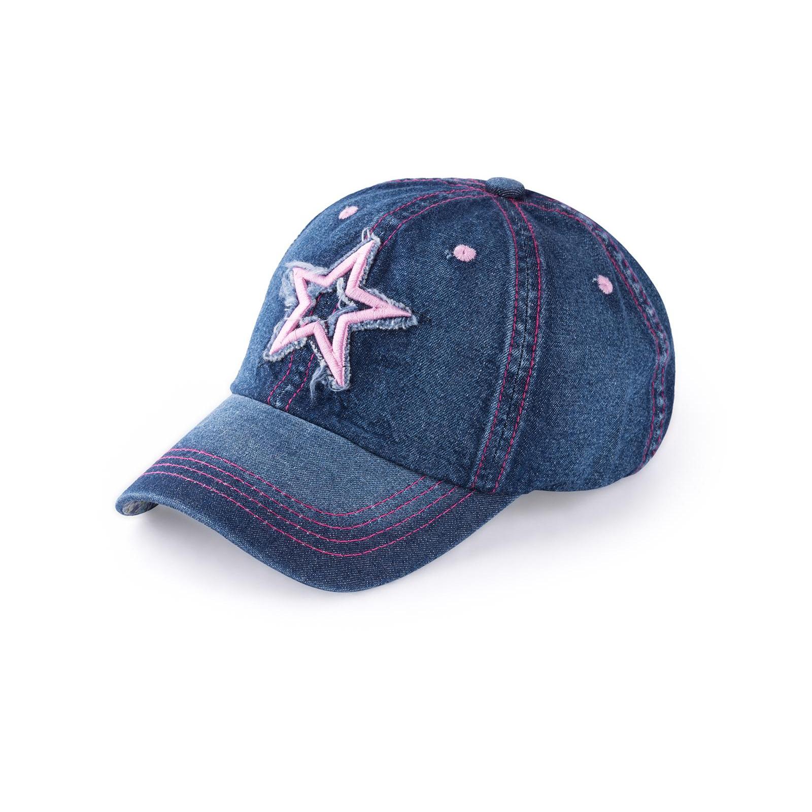 Кепка Kitti джинсовая со звездой (Y8300-9-54G-blue)