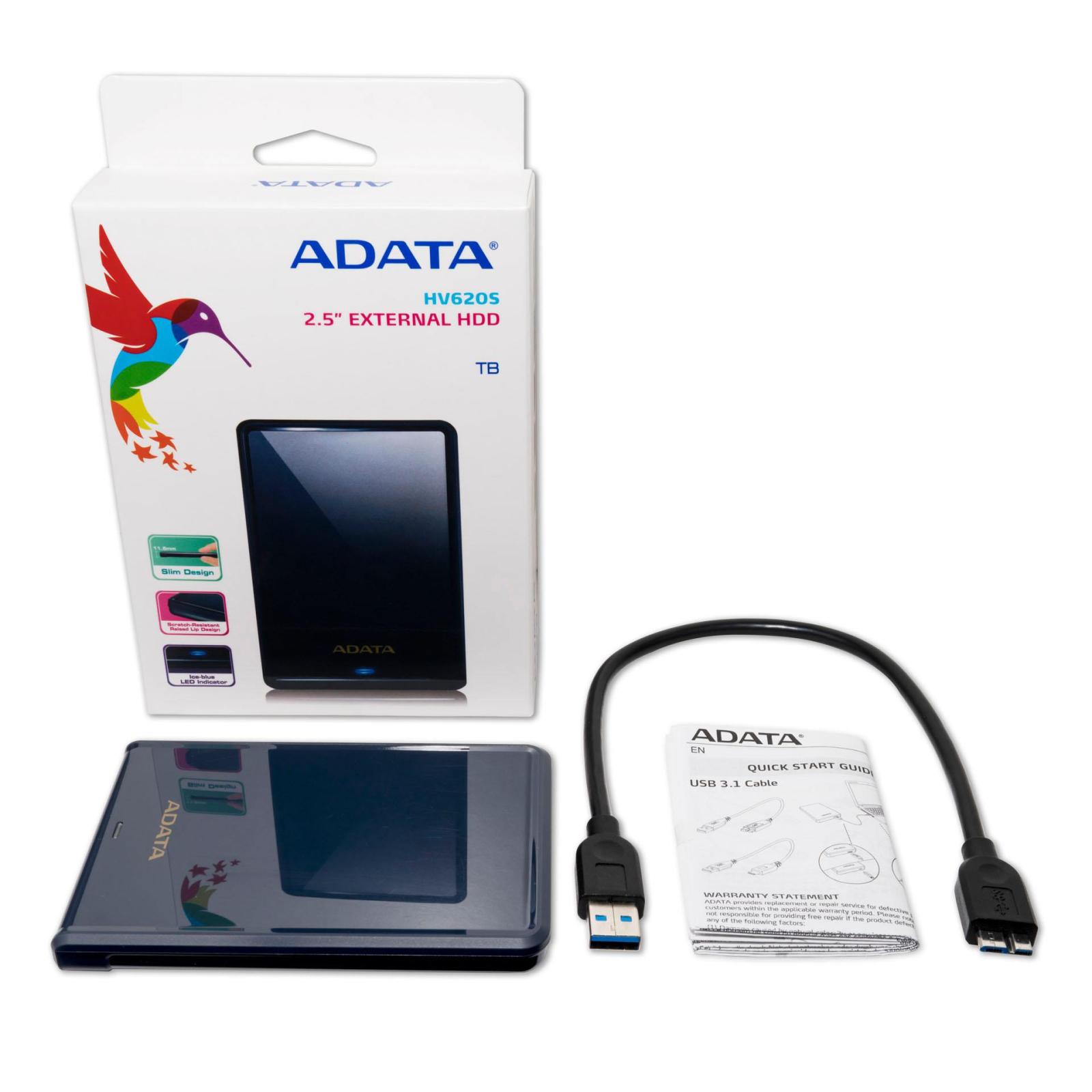"""Внешний жесткий диск 2.5"""" 2TB ADATA (AHV620S-2TU31-CBL) изображение 5"""