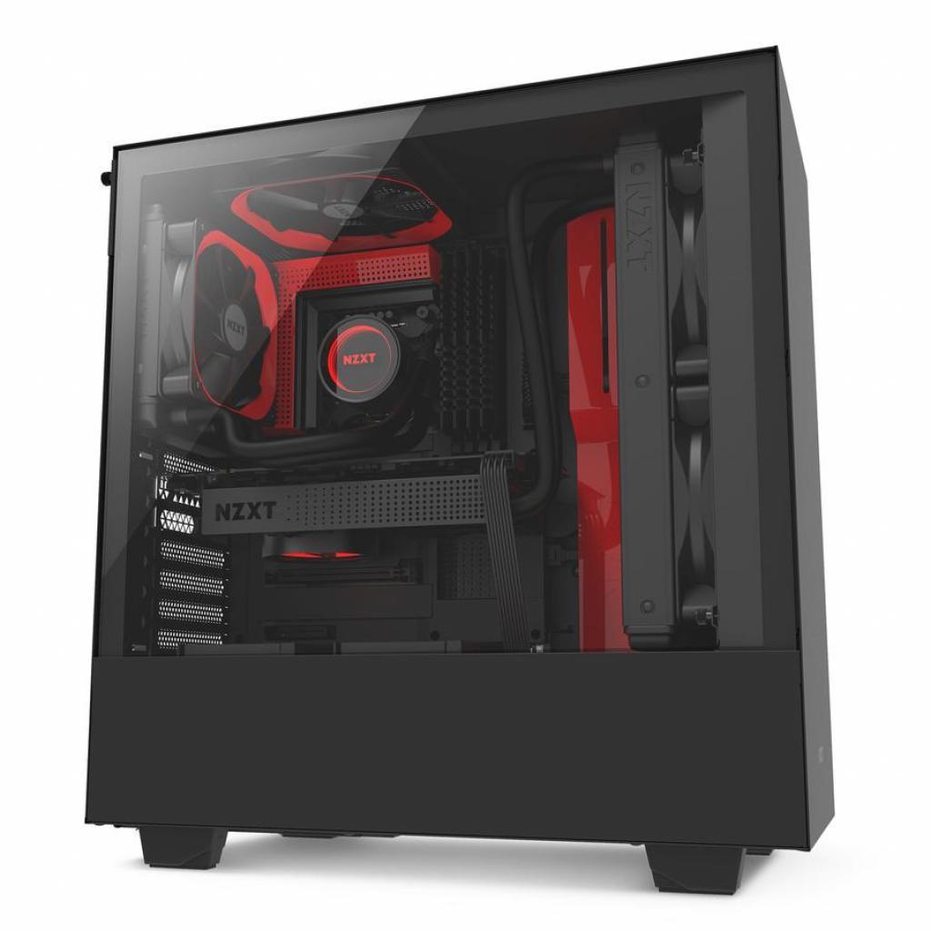 Корпус NZXT H500 Black Red (CA-H500B-BR) изображение 3
