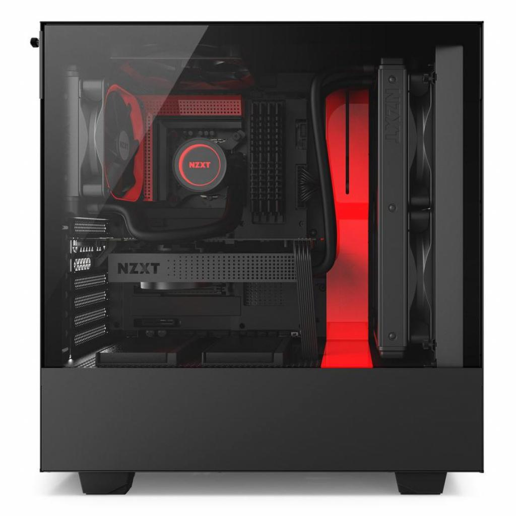 Корпус NZXT H500 Black Red (CA-H500B-BR) изображение 8