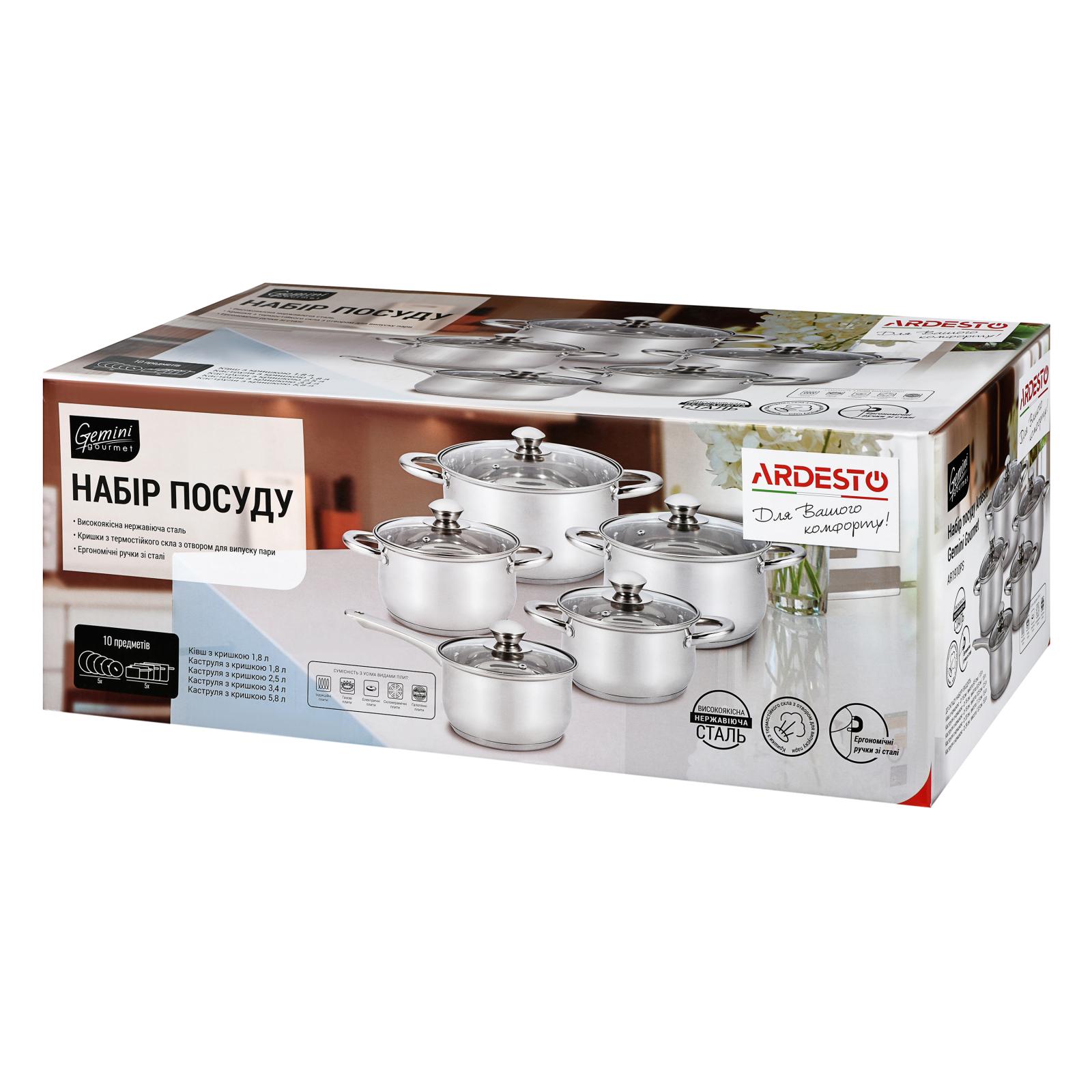 Набір посуду Ardesto Gemini Gourmet 10 предметів (AR1910PS) зображення 4