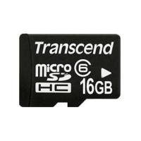Карта памяти 16Gb microSDHC class 4 Transcend (TS16GUSDC4)