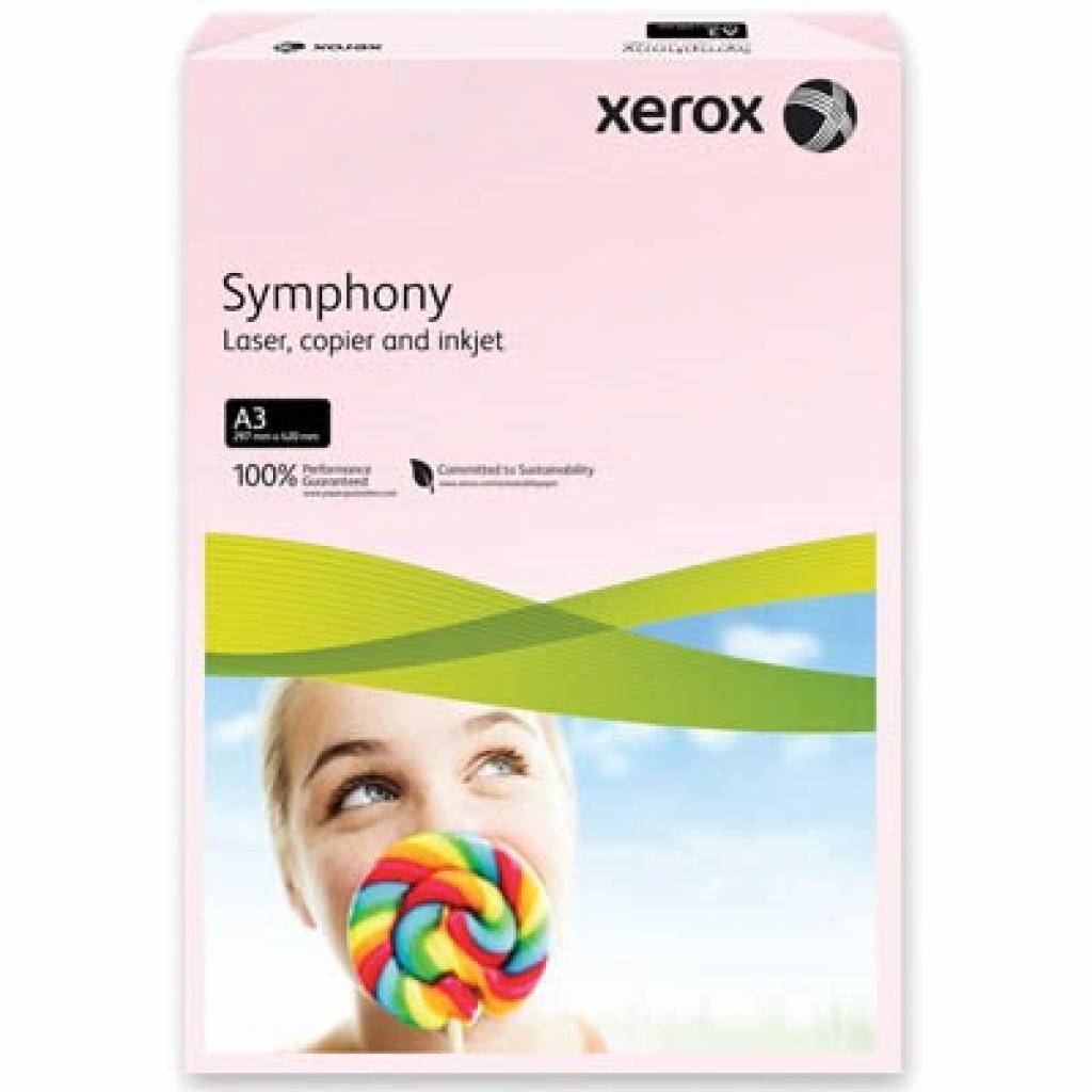Бумага XEROX A3 SYMPHONY Pastel Pink (80) A3 500 (003R92261)