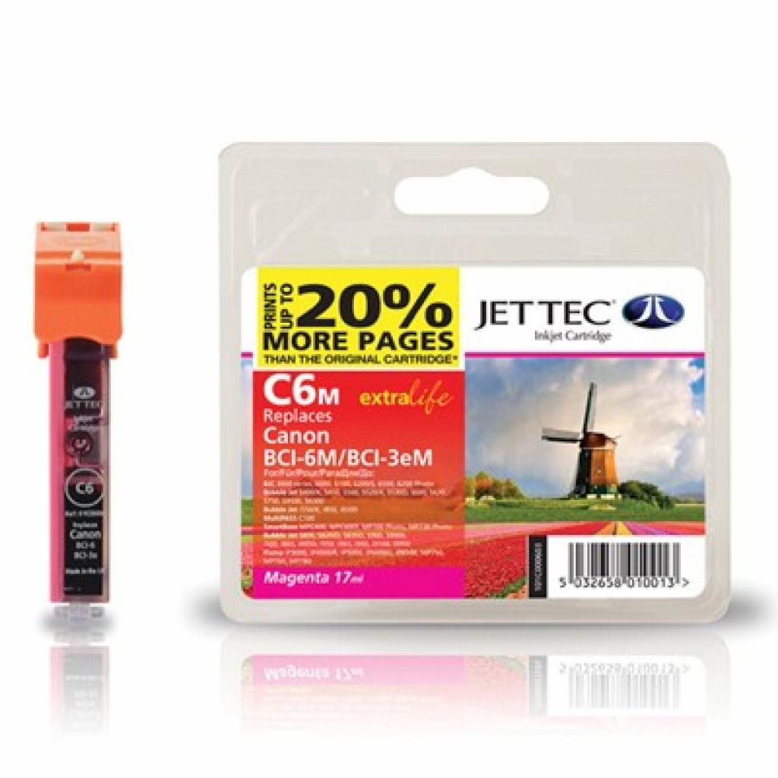 Картридж Jet Tec CANON BCI-3/BCI-6 Magenta (110C000603)