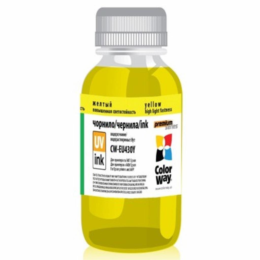 Чернила ColorWay Epson UV SX130/430 Yellow (CW-EU430Y01)