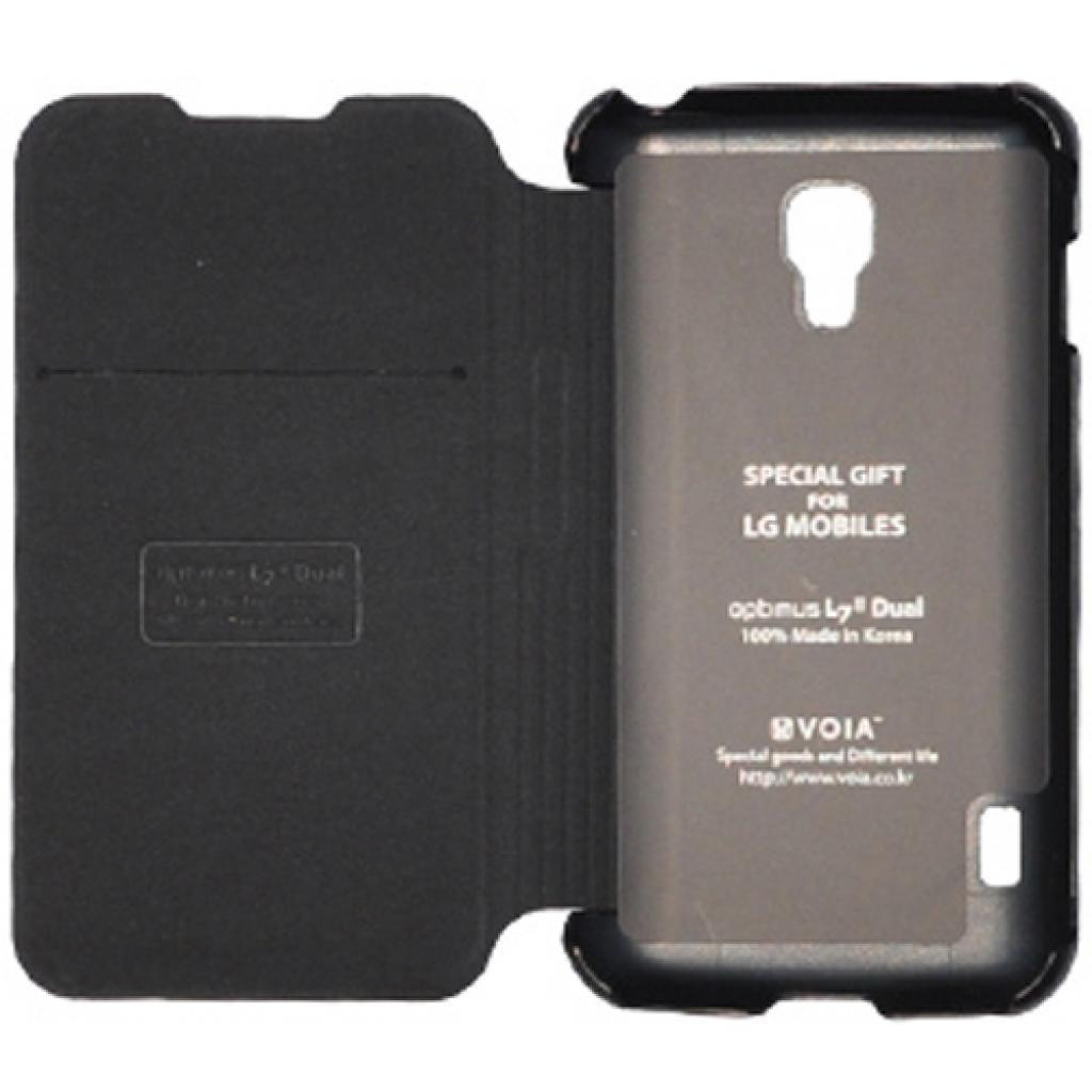Чехол для моб. телефона VOIA для LG P715 Optimus L7II Dual /Flip/Black (6068248) изображение 2