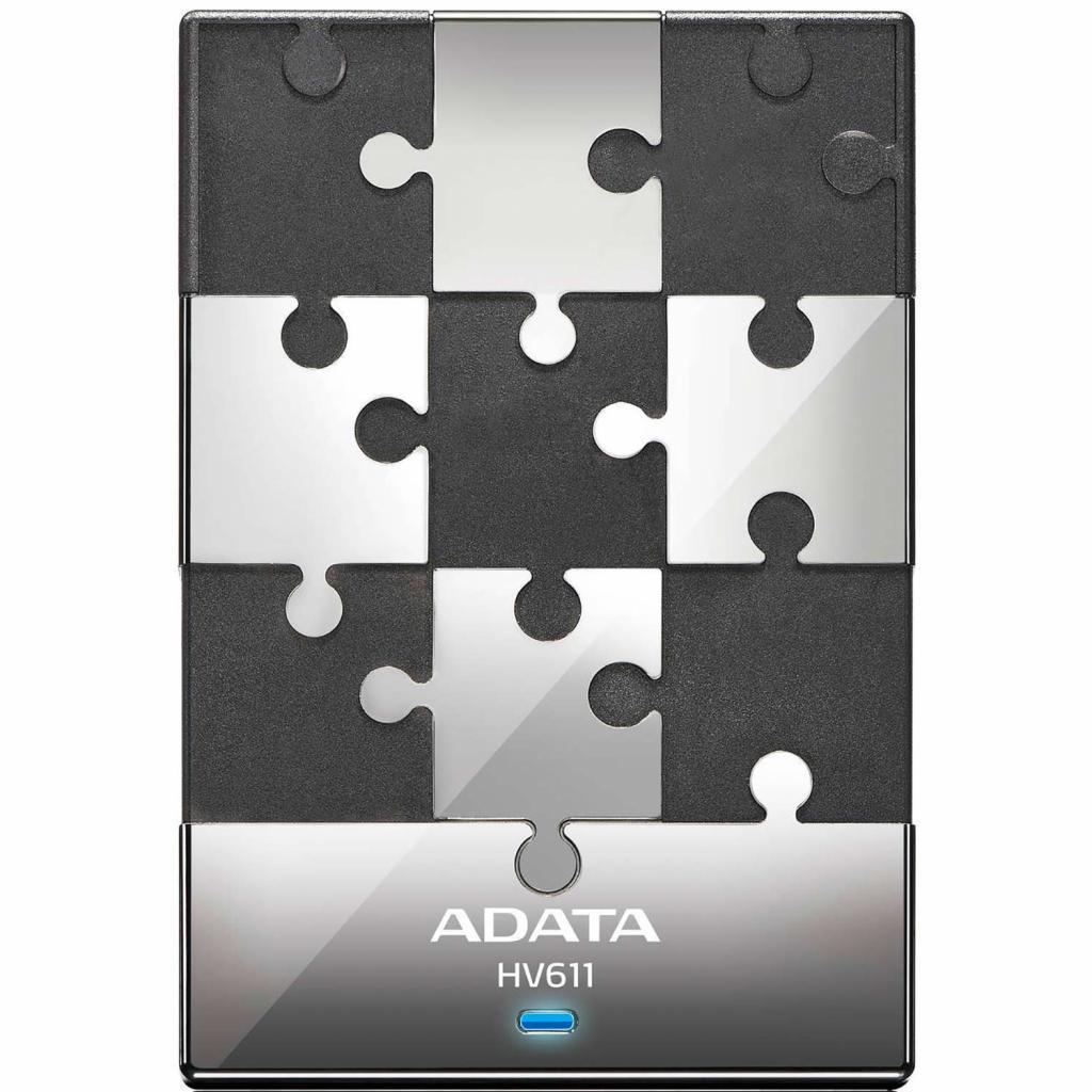 """Внешний жесткий диск 2.5"""" 500GB ADATA (AHV611-500GU3-CBK) изображение 2"""