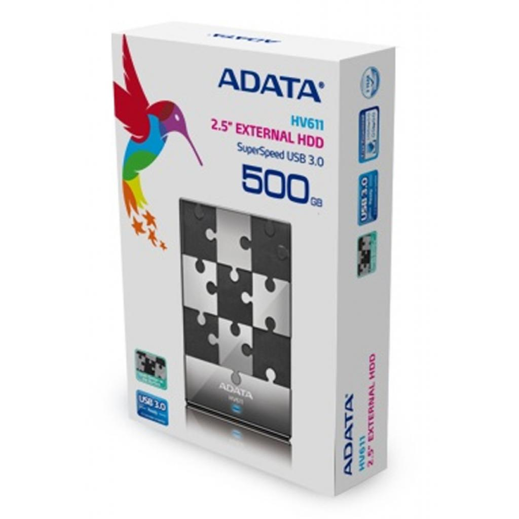 """Внешний жесткий диск 2.5"""" 500GB ADATA (AHV611-500GU3-CBK) изображение 3"""
